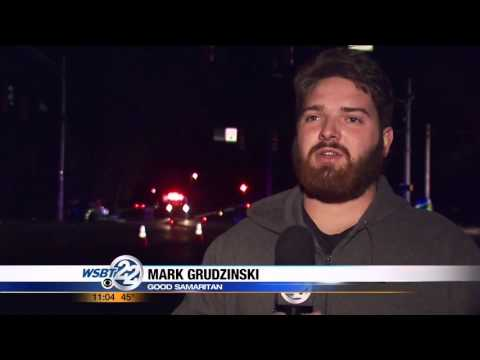 Good Samaritan saves officer from burning car