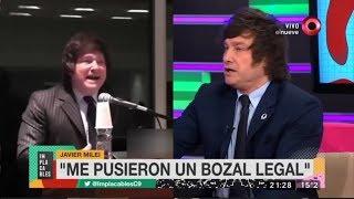 """Me pusieron un bozal legal"" Javier Milei- 01/07/18"