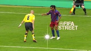 ¡Cuando Ronaldinho juega al fútbol como FIFA Street!