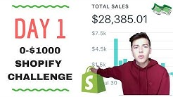 🔥 DAY 1   SHOPIFY $0-$1000 CHALLENGE   STEP BY STEP 🔥