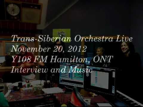 Trans-Siberian Orchestra Live Nov. 20, 2012 - Y108FM Hamilton, ONT Interview + Songs TSO
