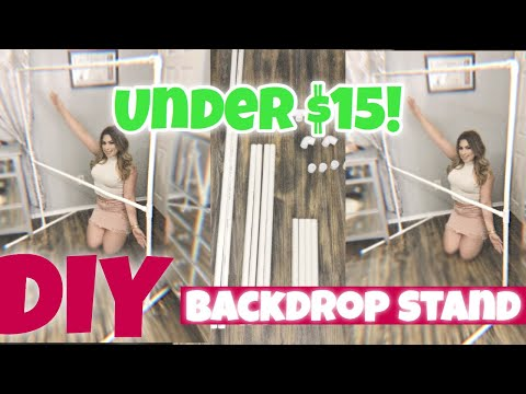 DIY BACKDROP STAND UNDER $15!!