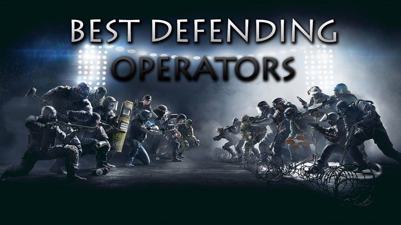 Rainbow Six Siege 5 Best Defending Operators - YouTube