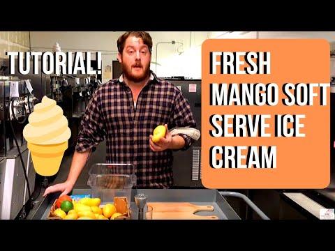 Make Soft Serve Ice Cream With Fresh Mangos & A Stoelting E111 Machine