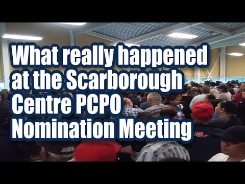 Scarbrorough Centre PCPO nomination meeting  - what happened?