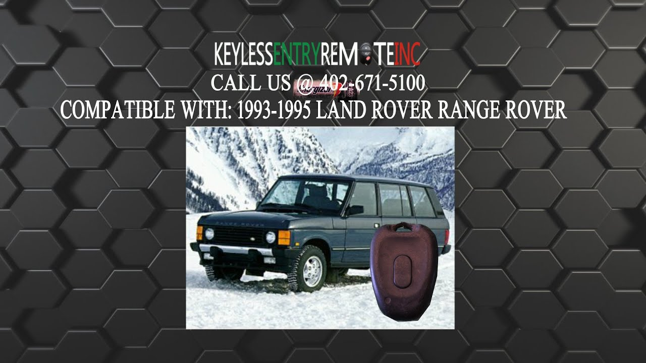 How To Replace Land Rover Range Rover Key Fob Battery 1993 1994 1995