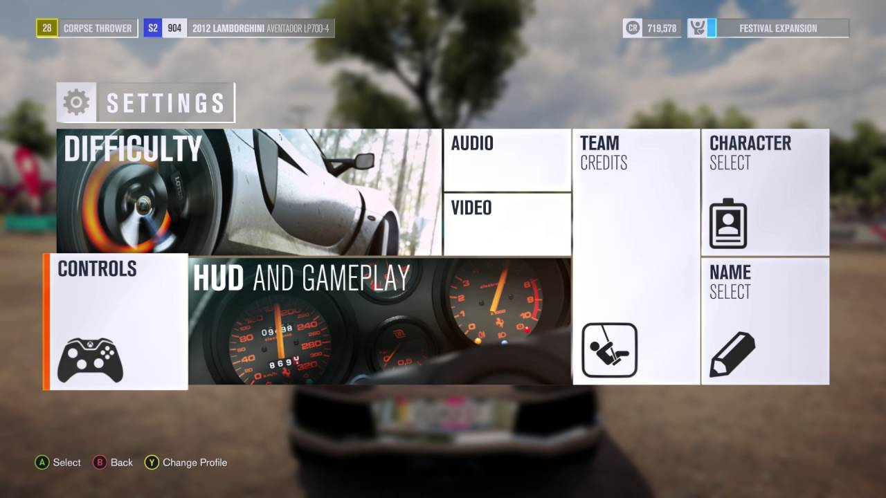Forza Horizon 3 - Xbox One Controller Button Layout (HUD and Gameplay)  Information Details
