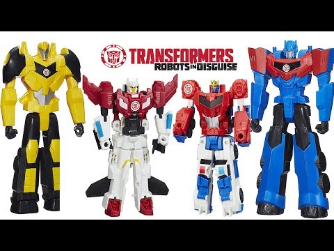TRANSFORMERS ROBOTS IN DISGUISE CRASH AND COMBINE STRONGARM, PRIMESTRONG, SKYHAMMER, BUMBLEBEE