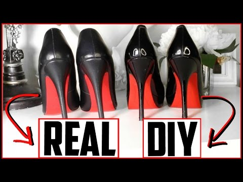 DIY Louboutin Heels - DIY Red Bottoms! (NOT SPRAY PAINTED 😷) EASY, CHEAP, FABULOUS | Kimbyrleigha