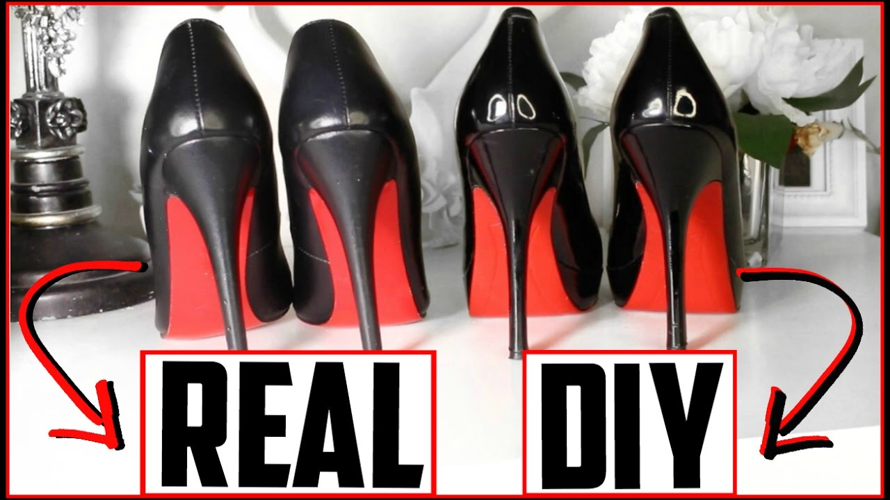 b83eda0d676 DIY Louboutin Heels - DIY Red Bottoms! (NOT SPRAY PAINTED 😷) EASY ...