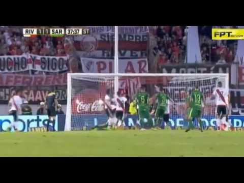 Gol de Perez Godoy - River Plate 1 - 1 Sarmiento - Torneo de Argentina 2017