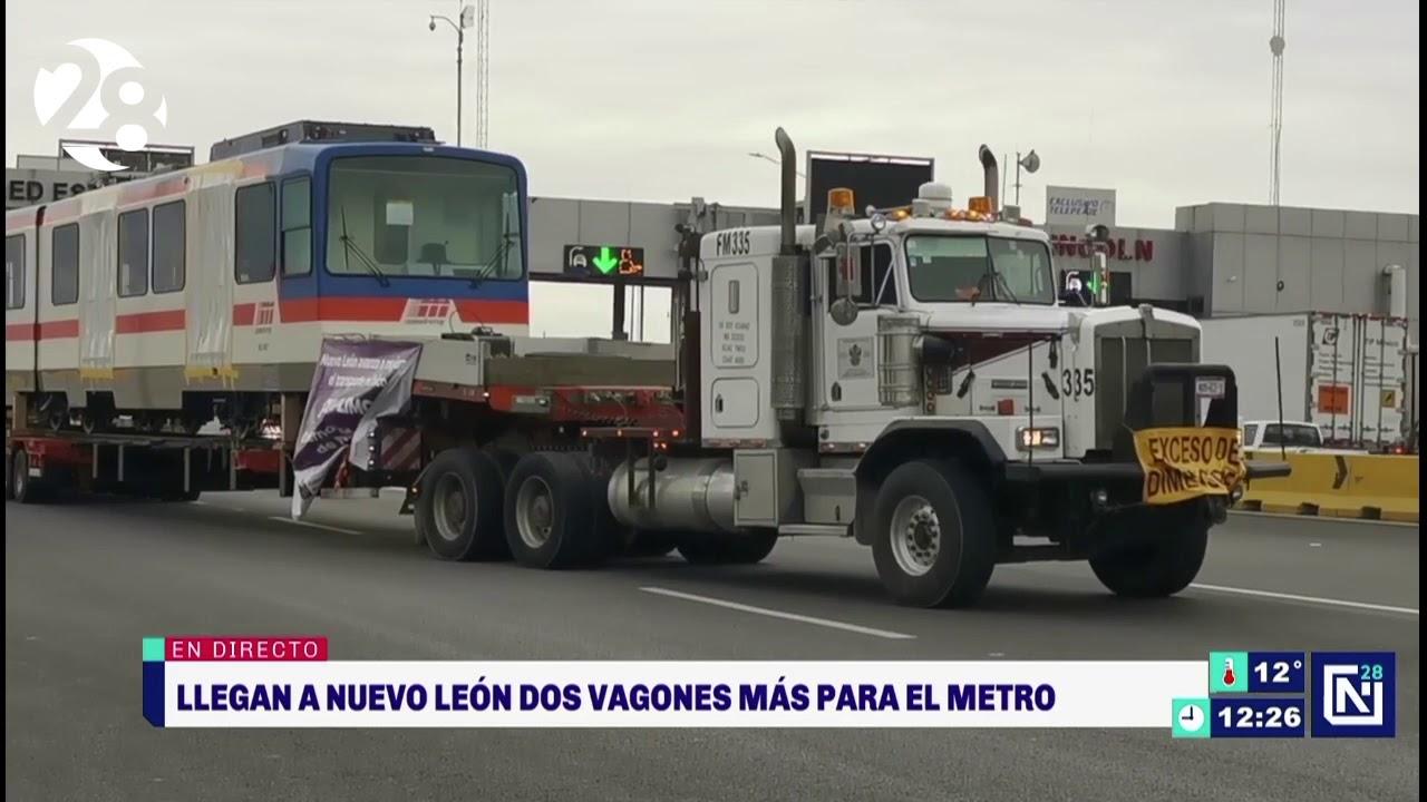Llegan a Monterrey vagones del Metro resguardados en Altamira