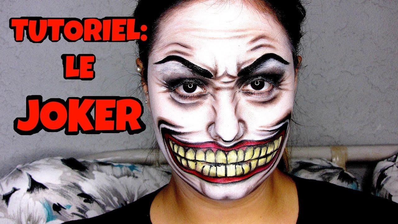maquillage halloween joker