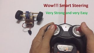 RC hoememade How to Make RC Heavy Truck Smart Steering at home Very Strong and easy