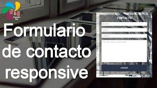 Formulario de contacto responsive con HTML y CSS