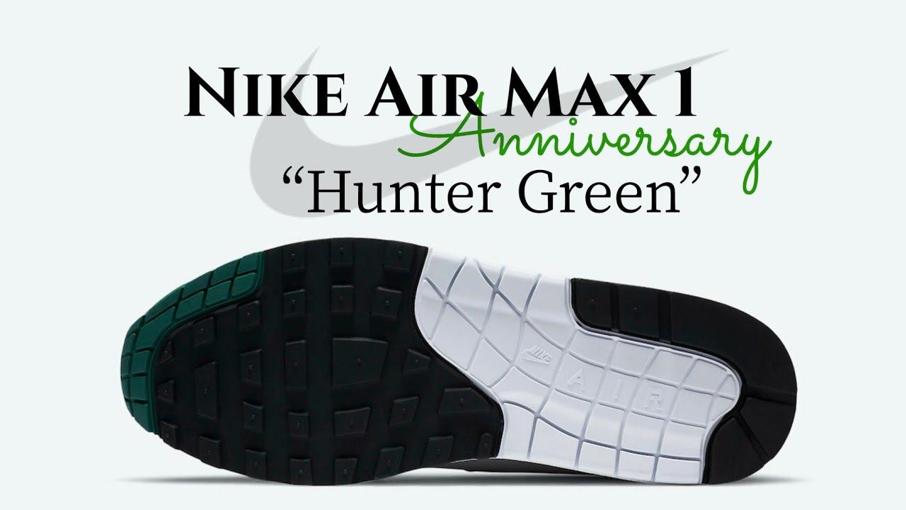 Nike Air Max 1 Anniversary Hunter Green Detailed Look Release