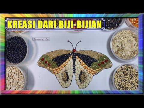 Butterfly Kupu Kupu Kreasi Kolase Biji Bijian Tehnik Kolase Collage Making Easy Paper For Kids Youtube