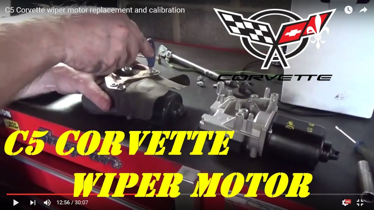 C5 Corvette Wiper Motor Replacement And Calibration Youtube 88 Chevy Van Wiring Diagram