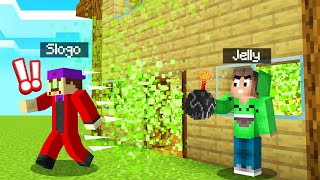 TROLLING SLOGO With STINK BOMBS In MINECRAFT! (Funny)