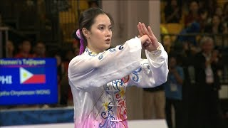 Agatha Wong wins GOLD in Wushu Taijiquan event | 2019 SEA Games