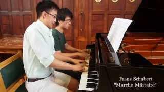 Franz Schubert - Marche Militaire Op. 51 No. 1 in D by Patrick Tua & Sun Thathong