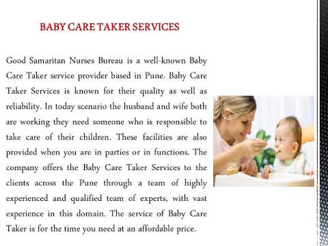 Female Attendant or Aaya Services in Pune - Good Samaritan Nurses Bureau