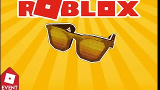ROBLOX [EVENT] how to get the diy gold cardboard shades. BLOXY AWARDS