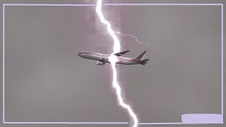 Aeroplane And Airports Struck By Lightning Compilation World Wide