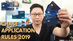 Chase Application Rules 2019 Update (5/24, 2/30, One Sapphire)