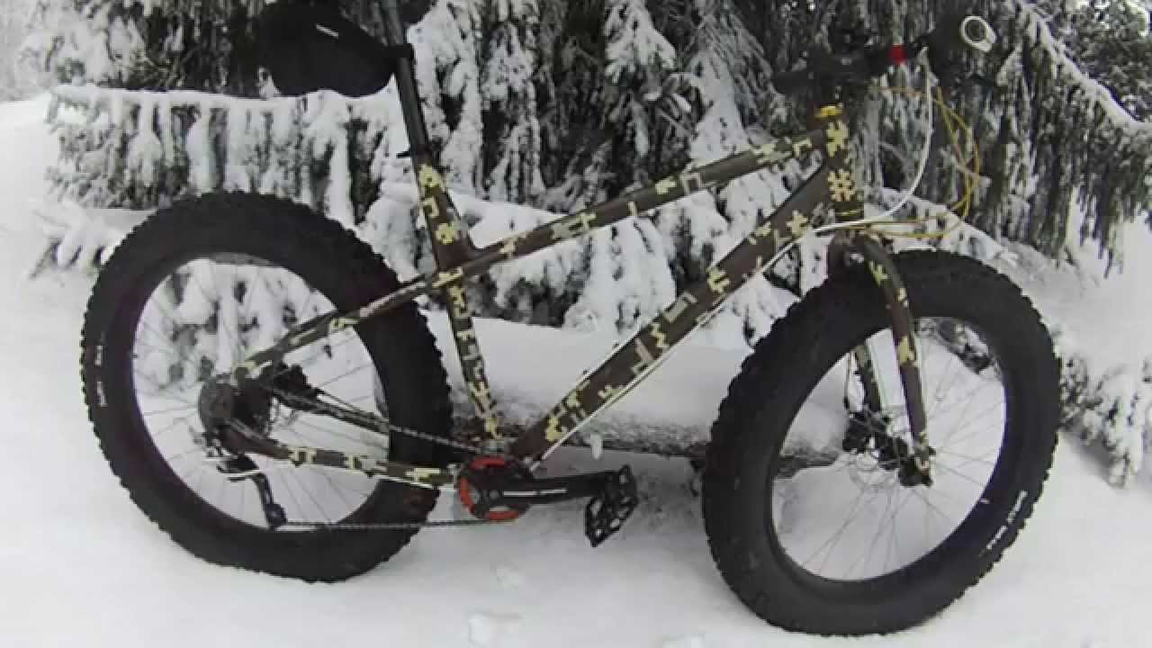 Digi Camo Painted Fatbike Kona Wo Youtube