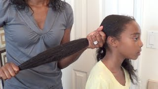 How to moisturize little girls natural hair | Butterfly