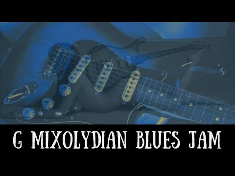 Slow G Mixolydian Blues Jam | Sexy Guitar Backing Track