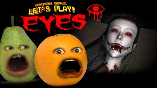 Annoying Orange and Pear play EYES! (Horror game) #SHOCKTOBER