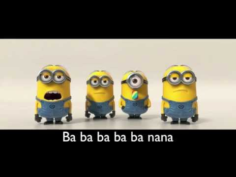 Banana Song [with lyrics] [HD]| Minions | Despicable Me 2