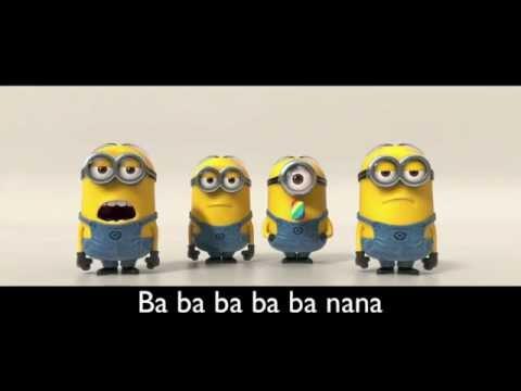 Banana Song [with lyrics] [HD]| Minions | Despicable Me 2