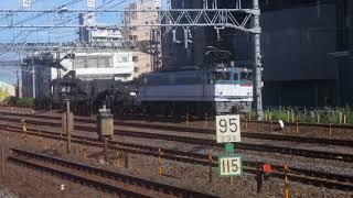 【鉄道】貨物列車 EF65 2000番台+シキ+ヨ8000 金町駅を通過!