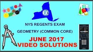 NYS Geometry [Common Core] June 2017 Regents Exam ANSWERS