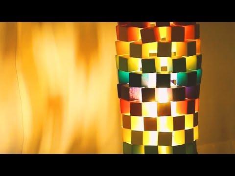 DIY  Wooden block Bedside Lamp*ウッドランプをDIY!優しい光でお部屋を癒やされる空間に