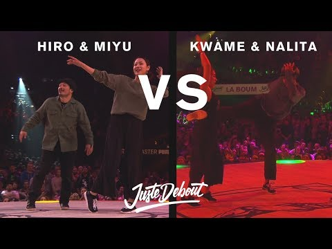 Hiro & Miyu vs Kwame & Nalita - Juste Debout 2017