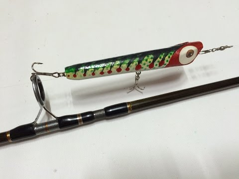 How to make Wooden Lure From A Paint Brush Hand - DIY Fishing Tips - Cá Gỗ Lure