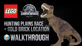 LEGO Jurassic World Hunting Plains Race Walkthrough (Gold Brick Location)