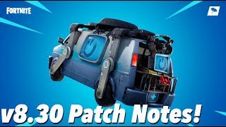 v8.30 Patch Notes! (FORTNITE)
