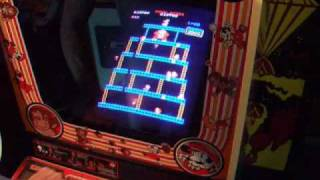 Original Donkey Kong Arcade Machine In Play