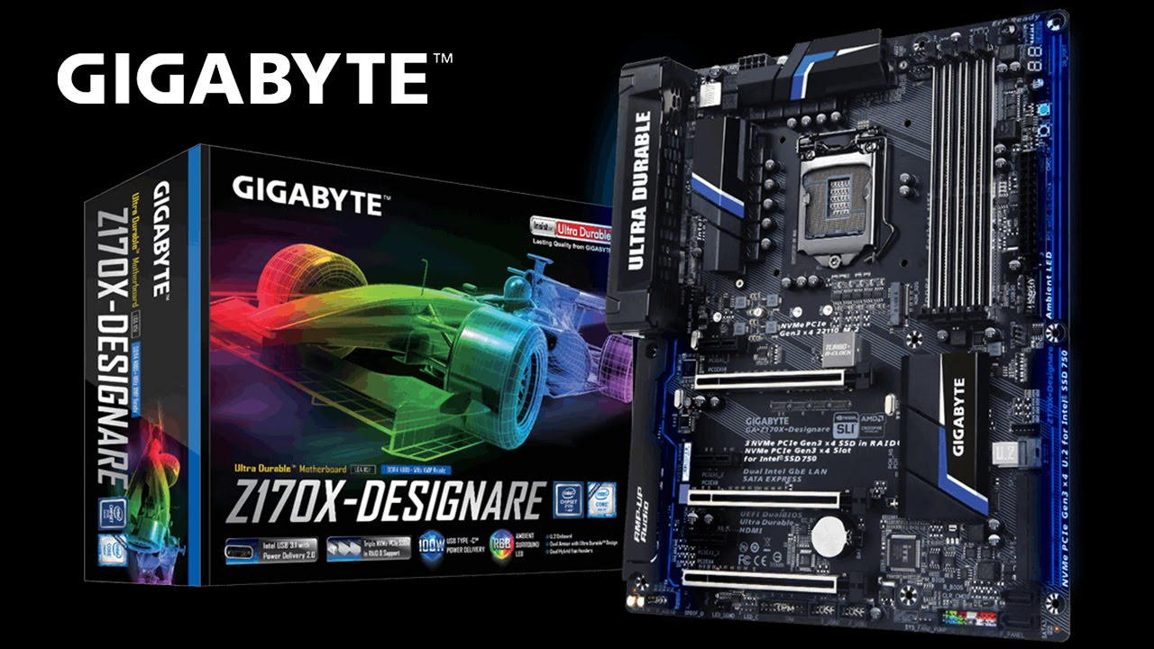 GIGABYTE 100 Series - Z170X-Designare Motherboard Unboxing & Overview