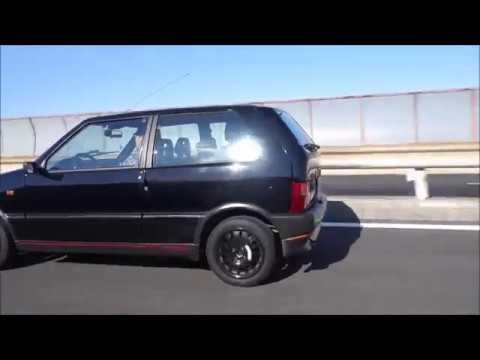 Fiat uno turbo 走行動画 GATTIN...