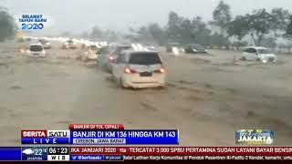 Penampakan Banjir Bandang Rendam Tol Cipali