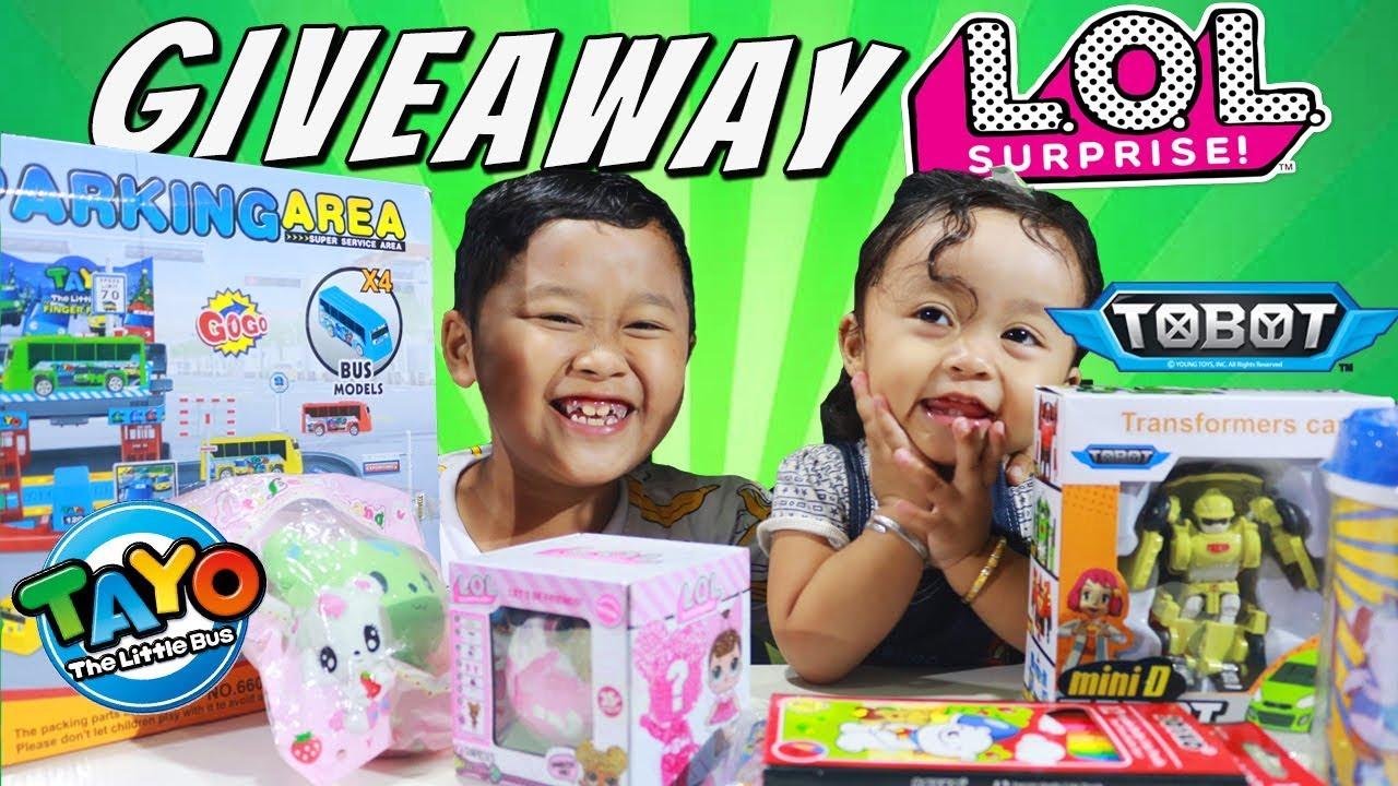 close uyyus bagi bagi giveaway lol surprise mainan anak