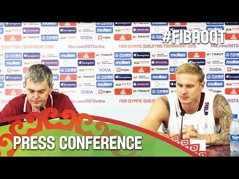 Latvia v Czech Republic - Press Conference - 2016 FIBA Olymp