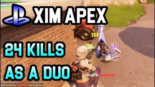 Fortnite Battle Royale: 24 Kills as a Duo - Highlights #25 (PS4/Xim Apex)
