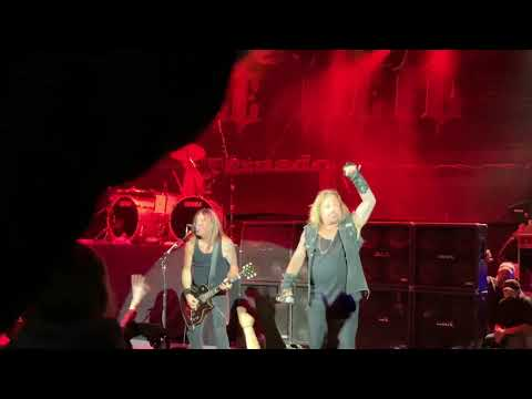 """vince-neil-performs-""""wild-side""""-live-in-pleasanton-ca-on-july-7,-2019-girl-rushes-stage"""